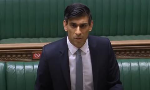 Rishi Sunak at Parliament