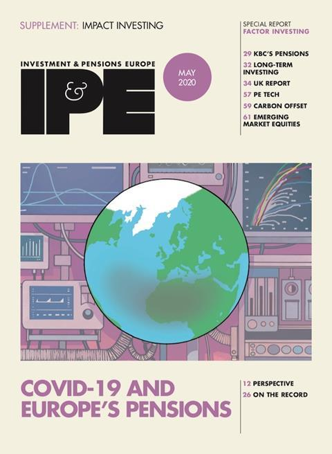 IPE May 2020 cover